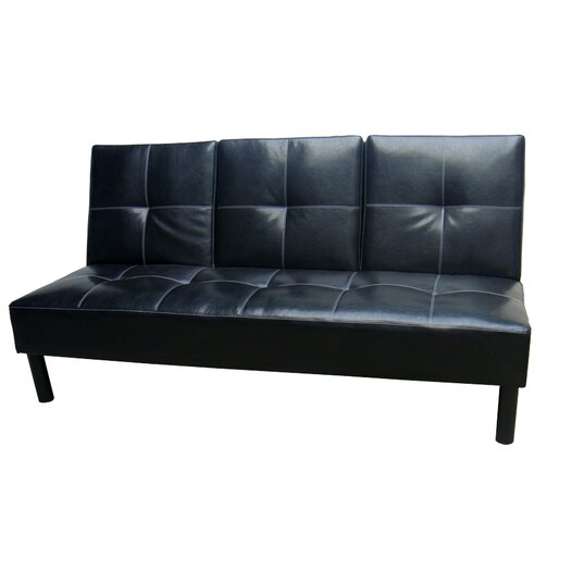 Hazelwood Home Click Clack Convertible Sofa