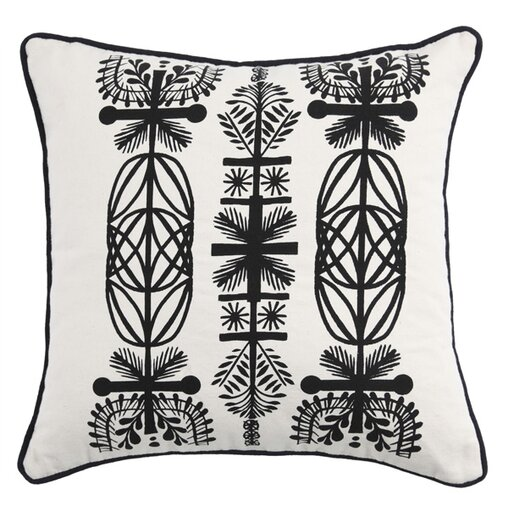 Screen Print Branches Throw Pillow