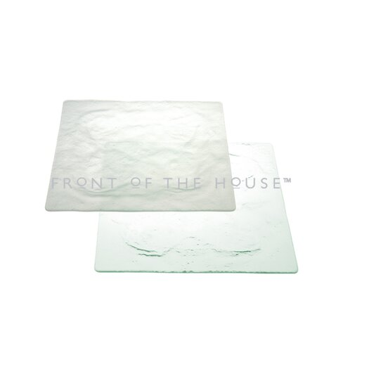 """Front Of The House Arctic 13"""" Square Plate"""