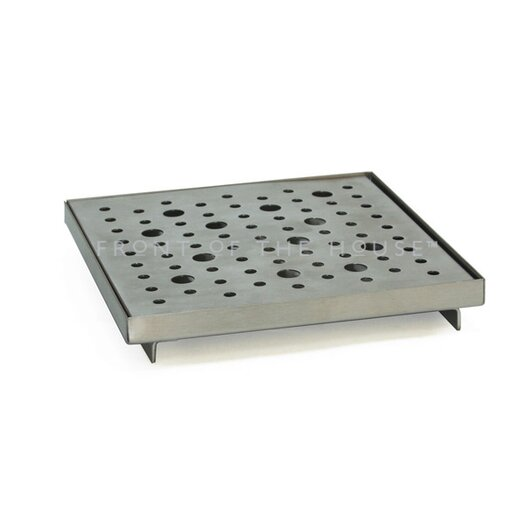 Front Of The House Stainless Steel Square Serving Tray