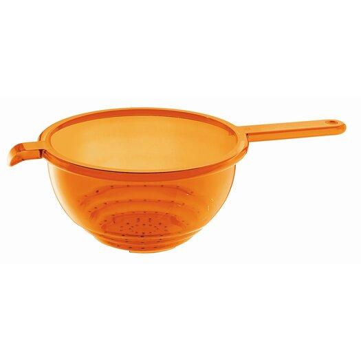 Guzzini Latina Colander with Handle in Orange