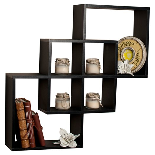 Danya B 3 Intersecting Decorative Wall Shelf