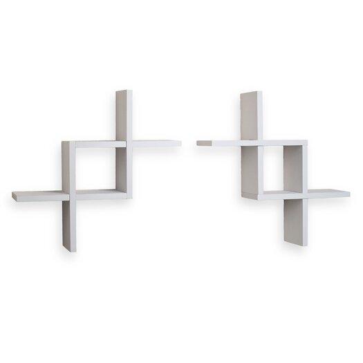 Danya B Reversed Criss Cross Shelves