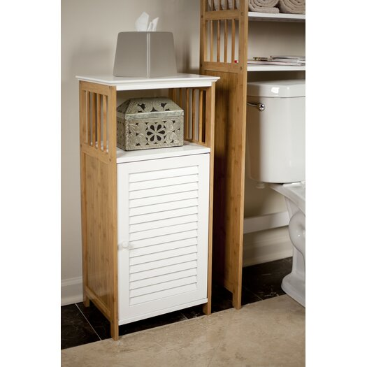 Danyab bamboo bathroom utility floor cabinet allmodern for Bamboo kitchen cabinets reviews