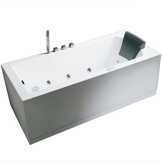 "Ariel Bath Platinum 59"" x 31.5"" Whirlpool Tub"