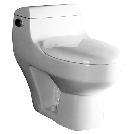 Ariel Bath Athena Contemporary 1.6 GPF Elongated 1 Piece Toilet