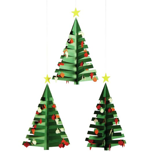 Christmas Calendar Tree Mobile
