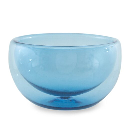 Novica The Javier and Efren Blown Glass Fruit Bowl