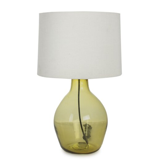 "Novica The Javier and Efren 14.3"" Table Lamp with Drum Shade"