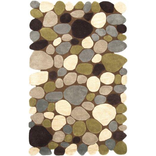 nuLOOM Pebbles Pebbles Brown Area Rug