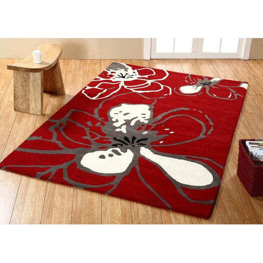 nuLOOM Modella Urban Fleur Red Rug