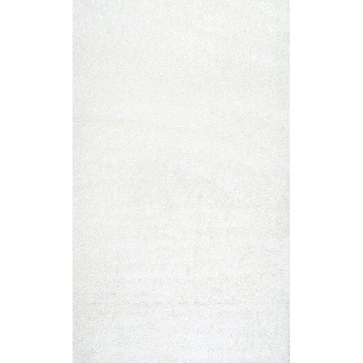 nuLOOM Serano Shag White Area Rug