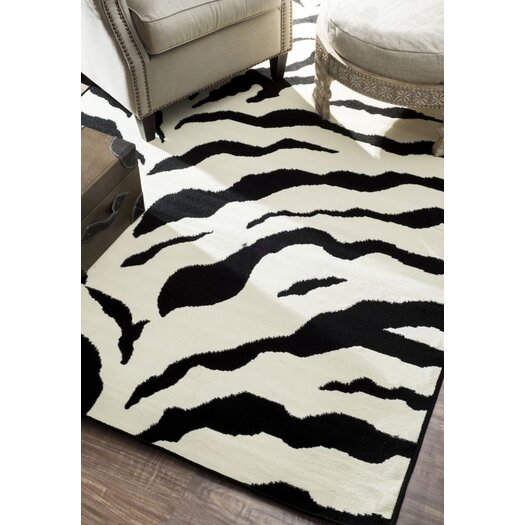 nuLOOM Earth Zebra Print Black & Ivory Area Rug