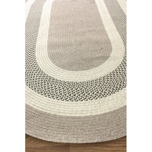 nuLOOM Cottage Outdoor Tan/Green Rug
