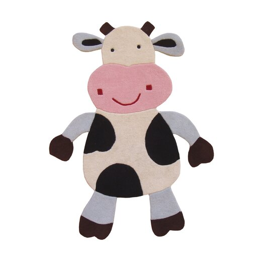 nuLOOM Kinder Daisy the Cow Area Rug
