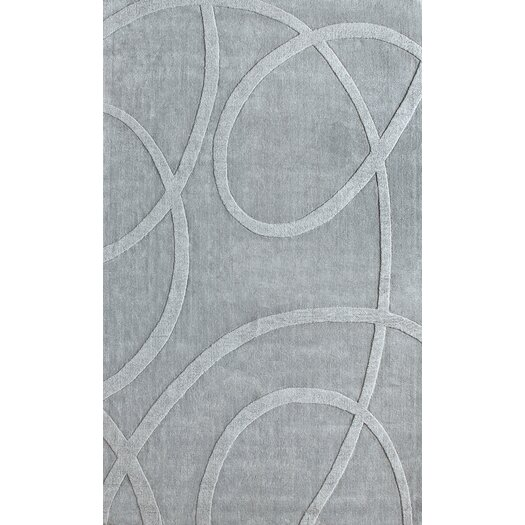 nuLOOM Gradient Light Grey Loops Area Rug