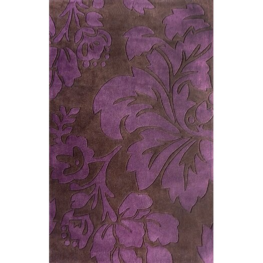 nuLOOM Cine Floral Purple Rug