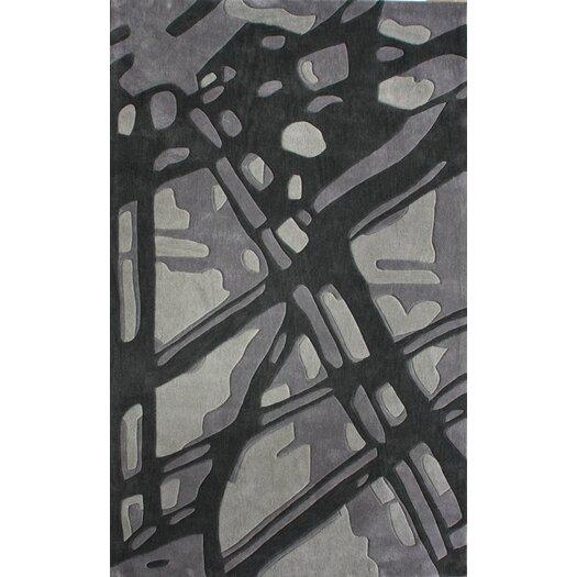 nuLOOM Cine Paint Splatter Grey Area Rug