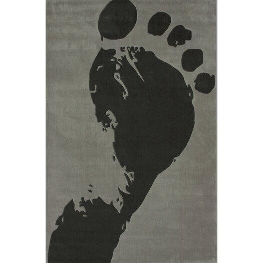 nuLOOM Cine Slate Foot Print Area Rug