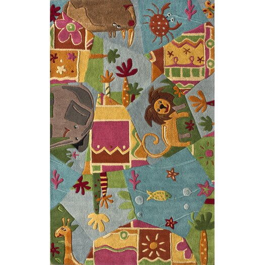 nuLOOM Kinder Animal Friends Area Rug