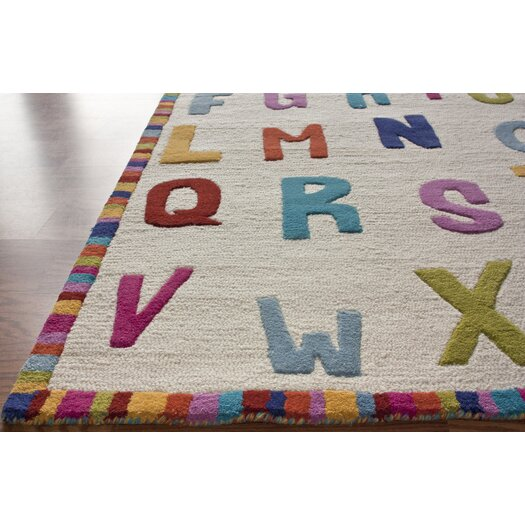 nuLOOM Kinder Educational Letters Ivory Area Rug