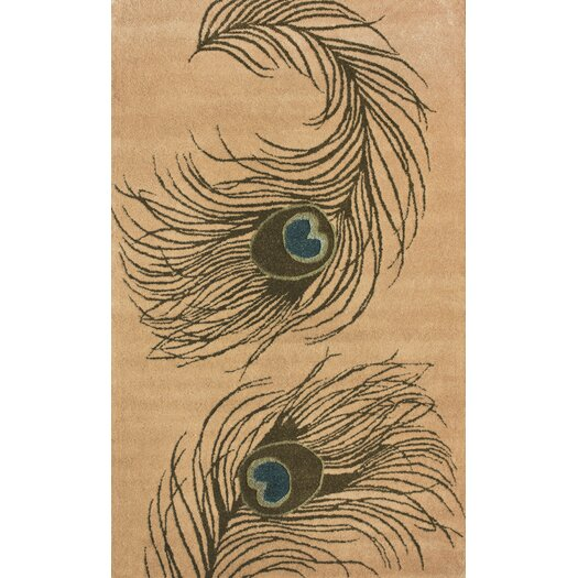 nuLOOM Hudson Peacock Beige Area Rug