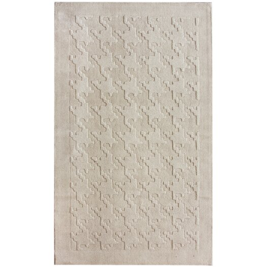 nuLOOM Gradient Ivory Houndstooth Texture Area Rug