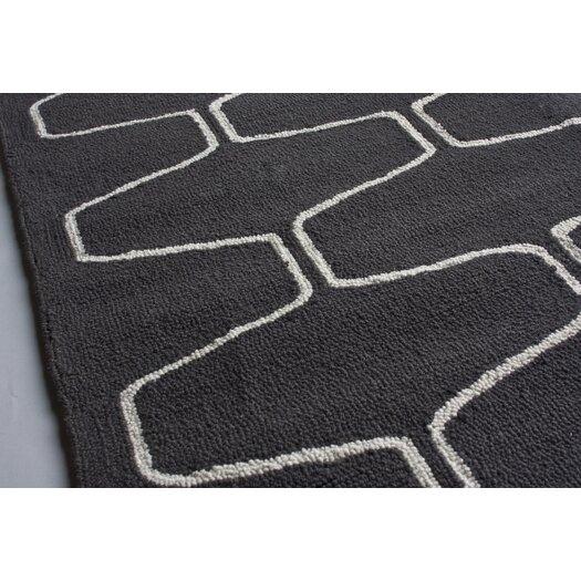 nuLOOM Trellis Charcoal Contemporary Rectangular Rug
