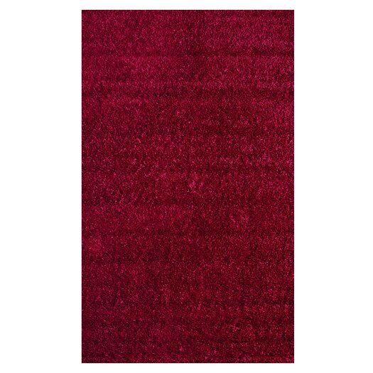 nuLOOM Shaggy Really Red Area Rug