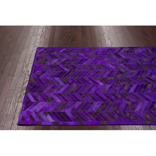 nuLOOM Hudson Purple Chevron Area Rug