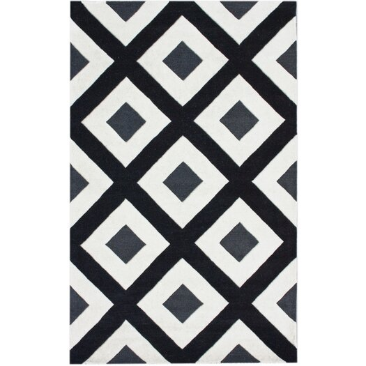nuLOOM Bella Diamonds Black & White Area Rug