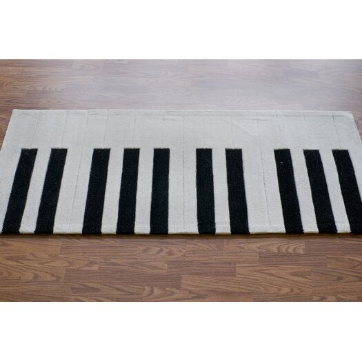 nuLOOM Cine White Piano Outdoor Area Rug