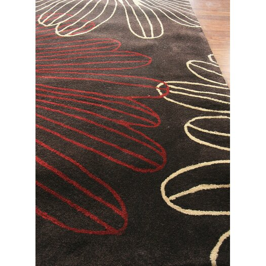 nuLOOM Cine Starburst Brown Area Rug