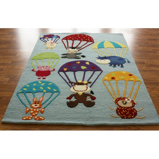 nuLOOM KinderLOOM Air Safari Blue Area Rug