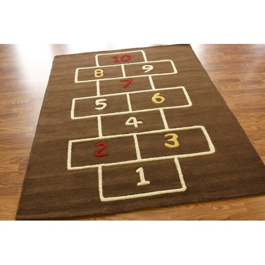 nuLOOM KinderLOOM Hopscotch Brown Area Rug