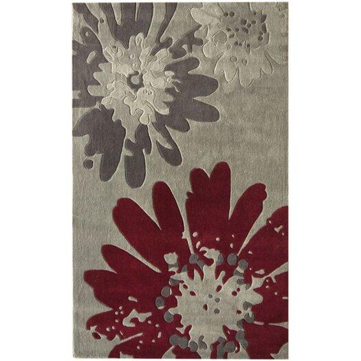 nuLOOM Pop Bold Floral Grey Area Rug