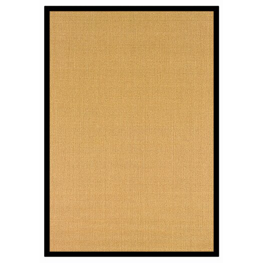 nuLOOM Natura Sisal Herringbone Black/Yellow Area Rug