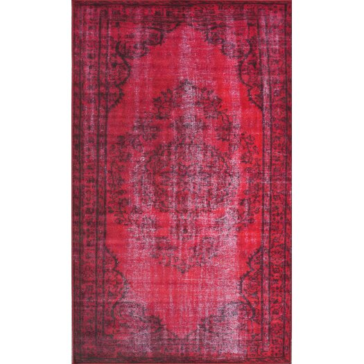 nuLOOM Remade Distressed Overdyed Red Area Rug