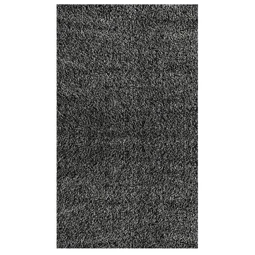 nuLOOM Shaggy Black & Grey Area Rug
