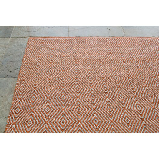 nuLOOM Keen Orange Chevron Trellis Rug