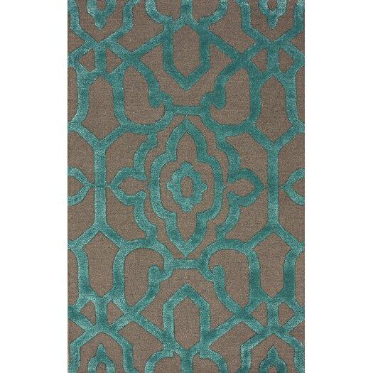 nuLOOM Fancy Charcoal Ornate Trellis Area Rug