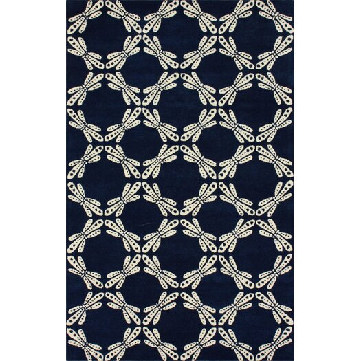 nuLOOM Fancy Navy Dorna Area Rug