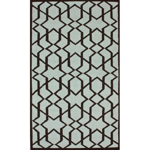nuLOOM Gelim Trellis Light Blue Geometric Area Rug
