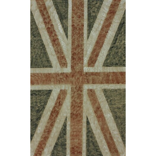 nuLOOM Natura Union Jack Blue Stripes Area Rug