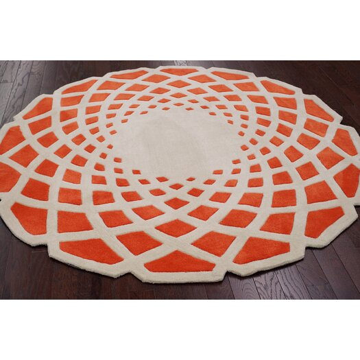 nuLOOM Cine Orange Crystal Area Rug