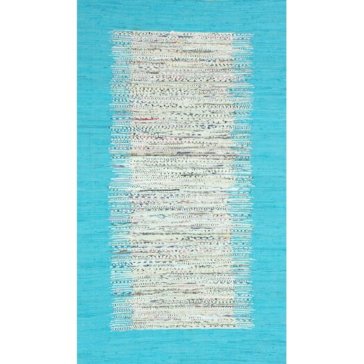 nuLOOM Munegu Turquoise Talia Rag Area Rug