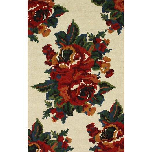 nuLOOM Modella Ivory Floral Bouquet Rug