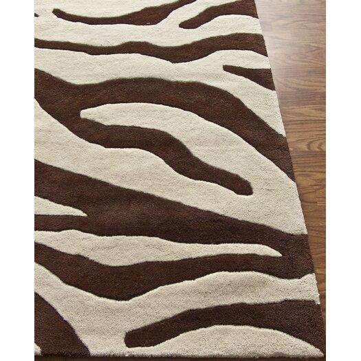 nuLOOM Moderna Brown Zebra Print Area Rug