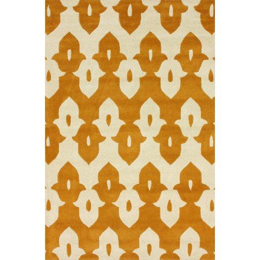 nuLOOM Moderna Mustard Ikat Trellis Area Rug
