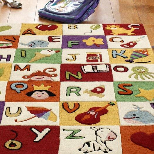 nuLOOM Kinder Alphabet Expressions Area Rug